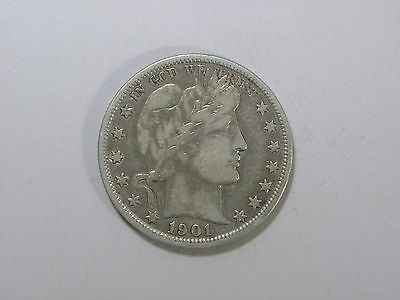1901 Barber Half Dollar - VF - #4152