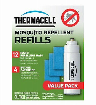 Mosquito Repellent Butane Refill Cartridge, 4 Pack, Thermacell, R4