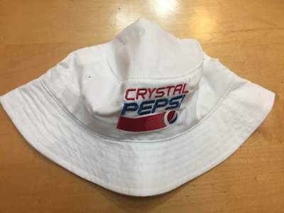 Crystal Pepsi BUCKET HAT White New Collectible 90s Throwback Gear 2017 Cap