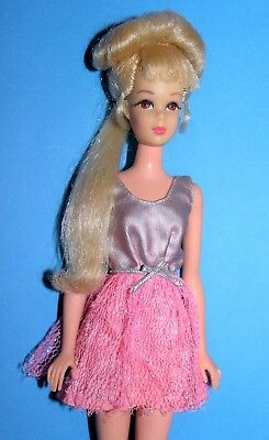 Barbie Francie Growin' Pretty Hair #1129 Blonde Vintage Doll'70 1St.regular Arms