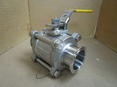 "Top-Flo/Top Line 2"" Tri-Clamp Stainless S/S 316 1000 WOG Ball Valve New"