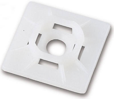 Cable Tie Mounting Base, White, 5 PK., Bender, 45-MB