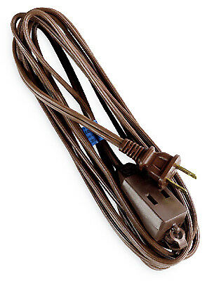 Extension Cord, 16/2 Spt-2, Brown Polarized Cube Tap, 12', HWGB, 09403ME