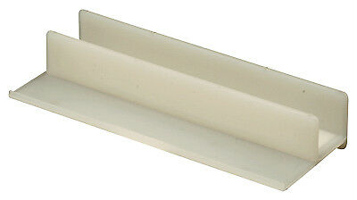 Shower Door Bottom Center Guide, White, 4-1/16 In., Prime Line, 194352