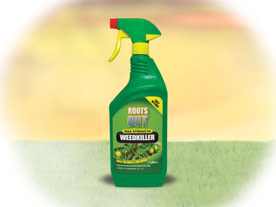 1 Litre Roots Out Weed Killer Max Strength Fast Acting Trigger sparay bortles