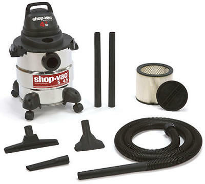 NEW Shop-Vac 5 Gallon 4.5 Peak HP Wet Dry Shop Vacuum Stainless Steel Canister