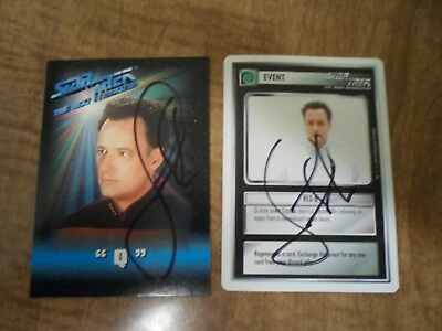 John DeLancie as Q - Star Trek The Next Generation - Lot of 2 trading cards