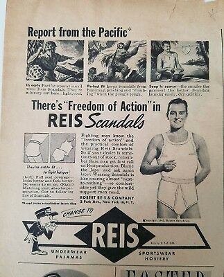 1945 REIS men's scandals underwear freedom of action report Pacific military ad