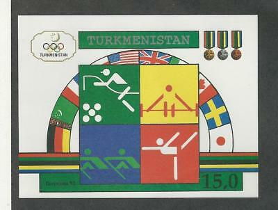 Turkmenistan, Postage Stamp, #23 Sheet Mint NH, 1992 (p) Olympics
