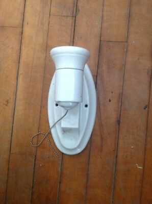 Antique Vtg Art Deco Porcelian Wall Sconce Light Fixture P&S