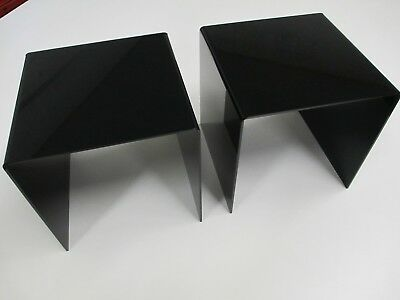 "2 piece 8"" x 8"" x 8"" Acrylic Display Risers Black"