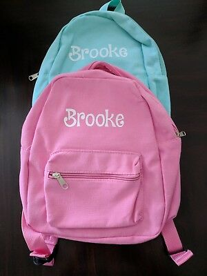 Personalized Toddler Mini Backpack Pink Teal