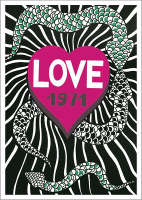 LOVE 1971 POSTER: Homage to Yves Saint Laurent Anniversary Year Reprint