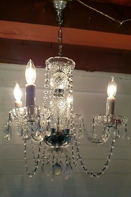 Vintage 4 Lights Crystal CHANDELIER - Exquisite!