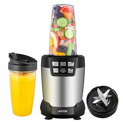 Blender, Aicok 1200W Smoothie Maker with 1L and 800mL BPA Free Tritan Bottles