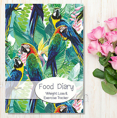 Food & Diet Diary, Slimming Journal Weight Loss Tracker A5 Dieting Journal PA