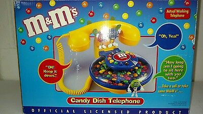 M&M Character Candy Dish Telephone Talking Corded Desk Phone.