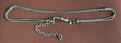 """Vintage BRIGHTON Metal Snake Chain Style Belt  34"""" Large - Expandable Another 7"""""""