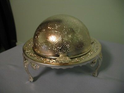 Vtg. Deocrative Silver Plate Butter/caviar Dish By Mayell E. P. Steel-England!