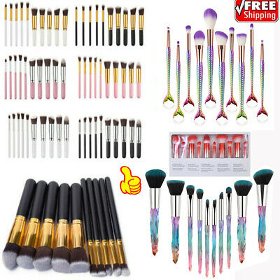 10pcs Small Makeup Brushes Set Face Powder Contour BB Cream Brushes Tools New