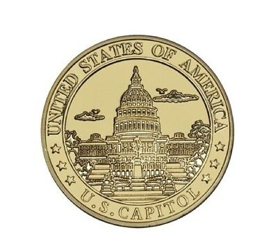 United States Capitol With The Great Seal Gold Challenge Coin