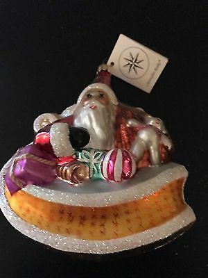 Christopher Radko Santa in Sleigh with Toys Glass Ornament
