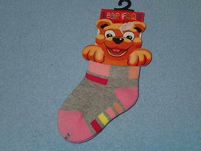 Bear Foot Cute Girls Socks, Size 1-2, BRAND NEW!