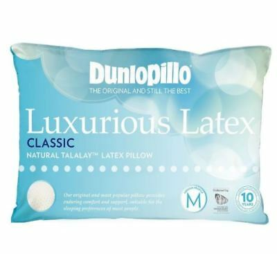 Dunlopillo-1 Pack Luxurious Latex Classic Medium Profile & Feel Pillow Comfy NEW