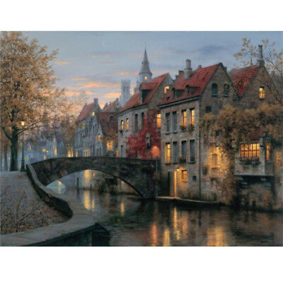 Unframed Modern House Oil Painting Print Picture on Canvas Home Wall Art Decor
