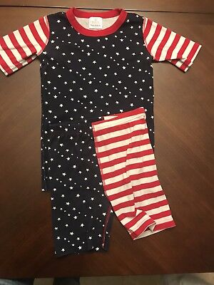 Hanna andersson stripped pajamas- stars patriotic red and blue-  size 150