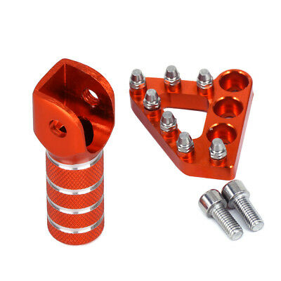 New CNC Rear Brake Pedal Step Plate Tip+Gear Shifter Shift Lever For KTM 125-530