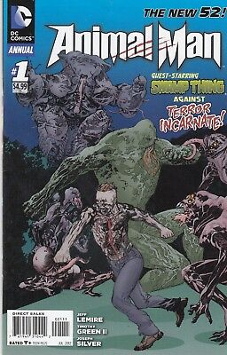 ANIMAL MAN ANNUAL 1...VF/VF+...2012...New 52...Jeff Lemire...Bargain!