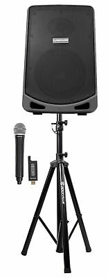 """Samson Expedition XP106W 6"""" Portable Rechargeable Active PA DJ Speaker+Mic+Stand"""