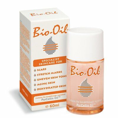 Bio Oil 60ml Scars Stretch Marks Aging Skin Uneven Tone Dehydrated PurCellin
