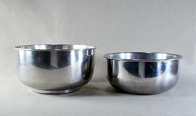 2) VINTAGE STAINLESS Steel Mixing Bowls - Sunbeam - Vollrath - $7.95 ...