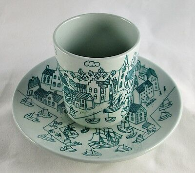 Tea Cup & Saucer - Nymolle Art Faience HOYRUP Denmark Limited Edition of 4006