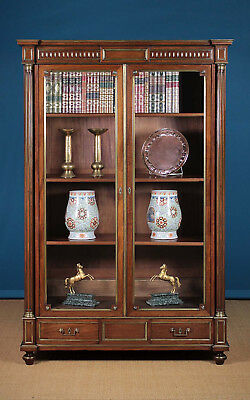 Antique French Brass Mounted Mahogany Bookcase c.1900.