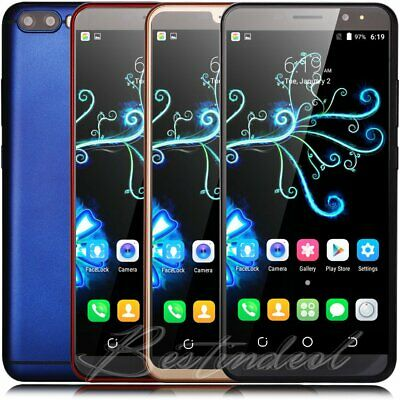 """Smartphone 6"""" Touch Unlocked Android 8.1 Quad Core Dual SIM 3G For Mobile Phone"""