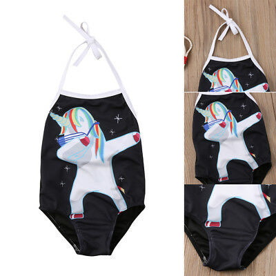 AU Stock Cute Unicorn Swimsuit Kids Baby Girl Bikini Swimwear Bathing Beachwear