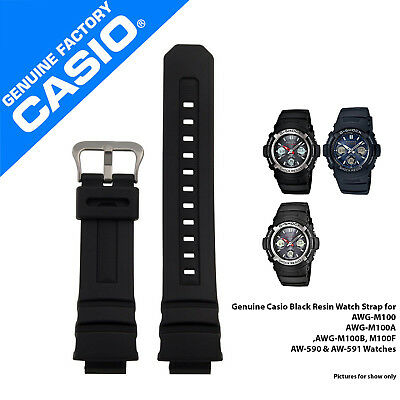 Genuine Casio Watch Strap for AW-590, AW-591,AWG-100, AWG-101,G-7700 - 10273059