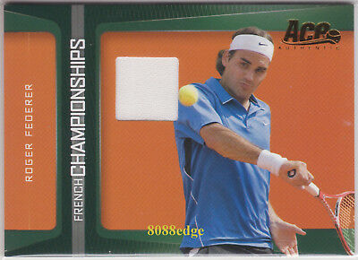 2007 Ace Authentic Match-Worn Swatch: Roger Federer #Fc3 Jersey Card French Open