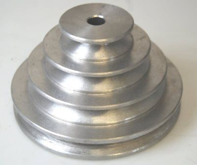 "A Section Multi step Aluminium Pulley 2 3 4 5"" SUITABLE FOR LATHE DRILL ETC"