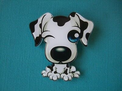 Cute Great Dane Brooch Dog Badge Puppy Acrylic Shaped Pin Harlequin Black White