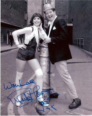 """Anita Harris - B&W 10""""x 8"""" Signed Photo (With Tommy Cooper) - UACC RD223"""