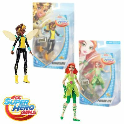 """New DC Super Hero Girls Poison Ivy Or Bumblebee 6"""" Action Figures Official"""