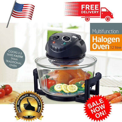 Multifunction 12 Quart 1200W Infrared Halogen Convection Countertop Oven Cooker