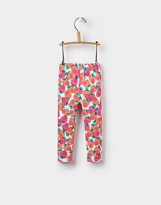Joules Baby Girls Toddler Deedee Printed Stretch Fabri Leggings in Strawberry