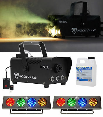 (2) Chauvet DJ Bank RGBA LED Light +FREE Rockville R720L LED Fog/Smoke Machine