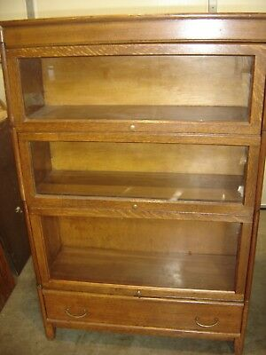 Antique 3-Stack Quarter-sawn Oak Arts & Crafts Gunn Bookcase  9935