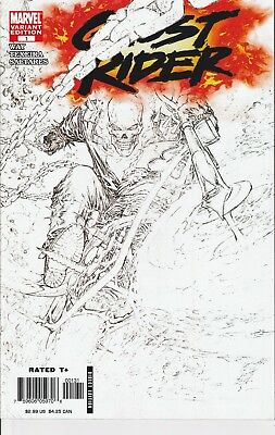 Ghost Rider #1 - Marc Silvestri Sketch Variant Cover - VF+/NM